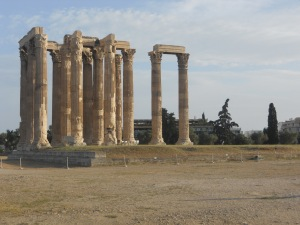 Temple of Olympian Zeus (not on the Acropolis)