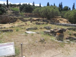 The site of the Poros in the Ancient Agora where Socrates was likely kept in prison.